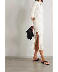 Loulou Studio Robe Midi En Mailles Gaya - Blanc