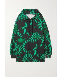 Dries Van Noten Oversized Printed Cotton-jersey Hoodie - Black