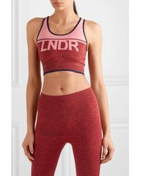 LNDR A-team Sport-bh Aus Stretch-material In Colour-block-optik - Pink