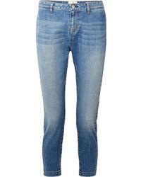 Nili Lotan - Tel Aviv Cropped Mid-rise Slim-leg Jeans - Lyst