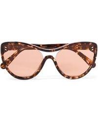 Stella McCartney - Cat-eye Tortoiseshell Acetate Sunglasses - Lyst