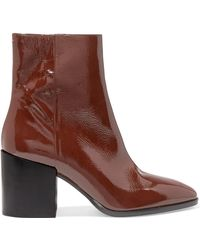 Aeyde - Leandra Patent-leather Ankle Boots - Lyst