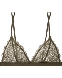 Les Girls, Les Boys - Daisy Stretch-lace Soft-cup Triangle Bra - Lyst
