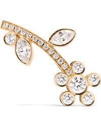 Sophie Bille Brahe - Croissant Amelia 18-karat Gold Diamond Earring - Lyst