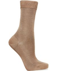 Falke - No.2 Pointelle Silk-blend Socks - Lyst