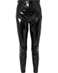 Rag & Bone Cropped Vinyl Slim-leg Pants - Black