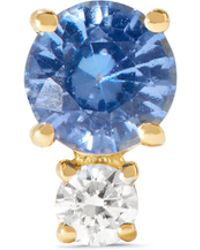 Jemma Wynne - 18-karat Gold, Sapphire And Diamond Earring - Lyst