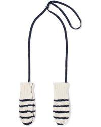 Rag & Bone - Striped Wool Mittens - Lyst