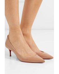 Christian Louboutin Pigalle Follies 55 Patent-leather Pumps - Pink