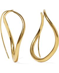 Chan Luu - Gold-plated Hoop Earrings - Lyst