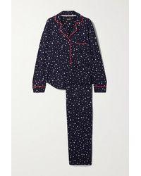 DKNY Bedruckter Pyjama Aus Stretch-jersey - Blau