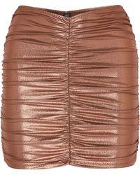 Lisa Marie Fernandez - Ruched Metallic Swim Skirt - Lyst