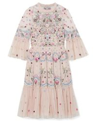 Needle & Thread - Mini-robe En Tulle À Broderies Dreamers - Lyst