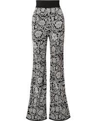 Balmain - Jacquard-knit Flared Trousers - Lyst