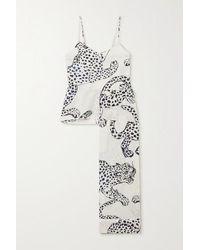 Desmond & Dempsey Pyjama Aus Bedruckter Biobaumwolle - Mehrfarbig