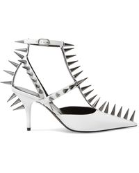 Balenciaga - Knife Spiked Leather Court Shoes - Lyst