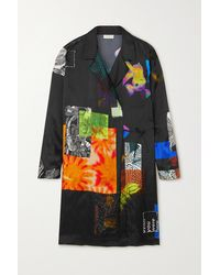 Dries Van Noten Calberta Printed Satin-twill Wrap Jacket - Black