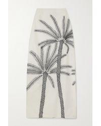 Le Sirenuse Monica Embroidered Cotton-poplin Maxi Skirt - White