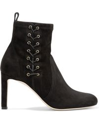 Jimmy Choo - Mallory 85 Suede Ankle Boots - Lyst