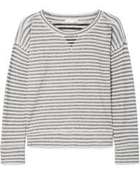 Skin - Haut De Pyjama En Jersey De Coton à Rayures Charlie - Lyst