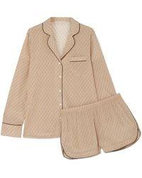 Stella McCartney - Poppy Snoozing Printed Stretch-silk Crepe De Chine Pajama  Set - Lyst a43a0b472