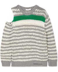 IRO - Clapish Cold-shoulder Striped Cotton-blend Sweater - Lyst
