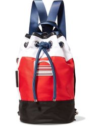 Marc Jacobs - Sport Sling Leather-trimmed Color-block Shell Backpack - Lyst