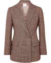 Agnona - Double-breasted Wool-tweed Blazer - Lyst
