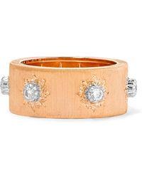Buccellati - Macri 18-karat Pink And White Gold Diamond Ring - Lyst