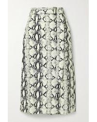 Jason Wu Belted Snake-print Crepe Midi Skirt - Multicolour