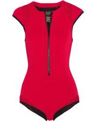 Duskii - Oasis Perforated Neoprene Swimsuit - Lyst