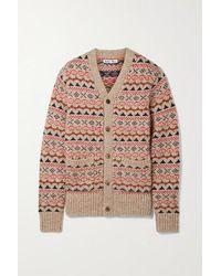 Alex Mill Fair Isle Knitted Cardigan - Multicolour