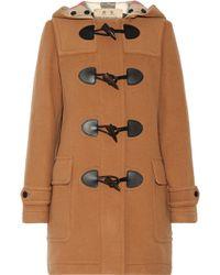 Burberry Duffle-coat En Laine Mélangée - Multicolore