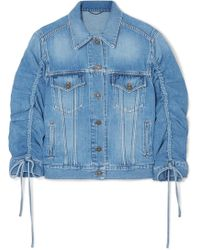 KENZO - Trucker Gathered Denim Jacket - Lyst