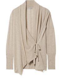 Vince - Draped Wool And Cashmere-blend Cardigan - Lyst