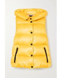 3 MONCLER GRENOBLE Resy Hooded Quilted Shell Down Vest - Yellow