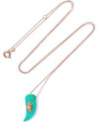 Pascale Monvoisin - Belleville 9-karat Rose Gold Turquoise Necklace - Lyst