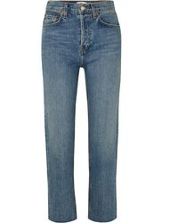 RE/DONE Originals Stove Pipe High-rise Straight-leg Jeans - Blue
