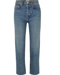 RE/DONE Originals Stove Pipe Hoch Sitzende Jeans Mit Geradem Bein - Blau