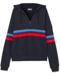 LNDR | Antics Striped Cotton-jersey Hooded Sweatshirt | Lyst