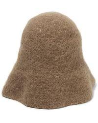 Lauren Manoogian Pima Cotton, Alpaca And Wool-blend Felt Hat - Brown