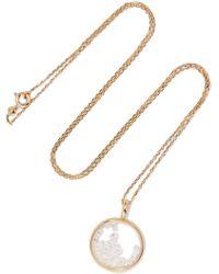 Aurelie Bidermann - Baby Chivor 18-karat Gold Diamond Necklace - Lyst