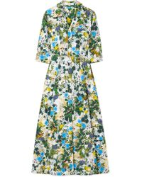 Erdem - Kasia Floral-print Cotton-poplin Midi Dress - Lyst