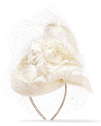 Philip Treacy - Crystal-embellished Veiled Headpiece - Lyst