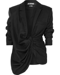 Jacquemus - Bahia Asymmetric Wool Blazer - Lyst