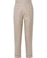 Brock Collection - Peregrine Embroidered Cotton And Silk-blend Brocade Tapered Trousers - Lyst