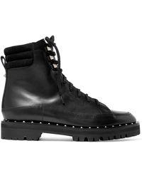 Valentino - Garavani Soul Rockstud Leather Ankle Boots - Lyst
