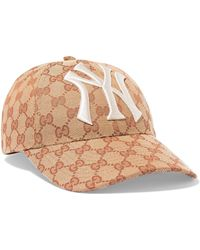 Gucci - Tan Ny Yankees Edition GG Supreme Patch Cap - Lyst