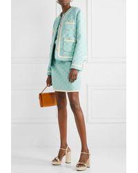 Gucci Minirock Aus Jacquard Aus Einer Baumwollmischung - Blau