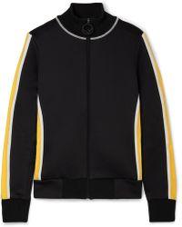 Fendi - Roma Printed Velvet-trimmed Stretch-ponte Jacket - Lyst